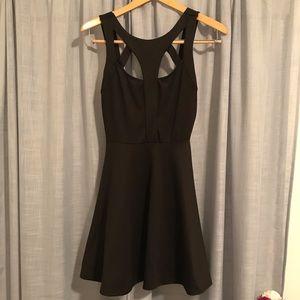 Lush black mini dress